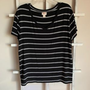 Mossimo Supply Co. black and white striped T-shirt